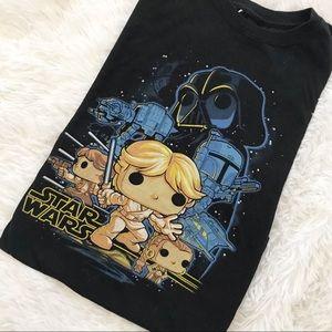 Stars Wars Funko Pop Black T-Shirt